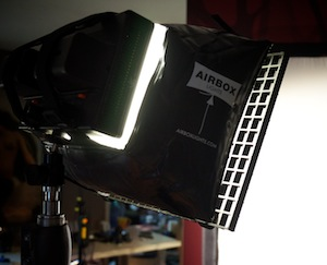 Airbox Softbox light in use